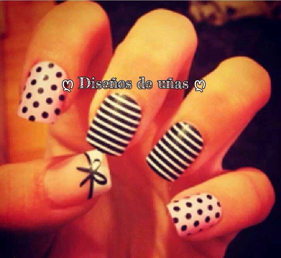 Blackwhite nails nails pinterest black white nails and white