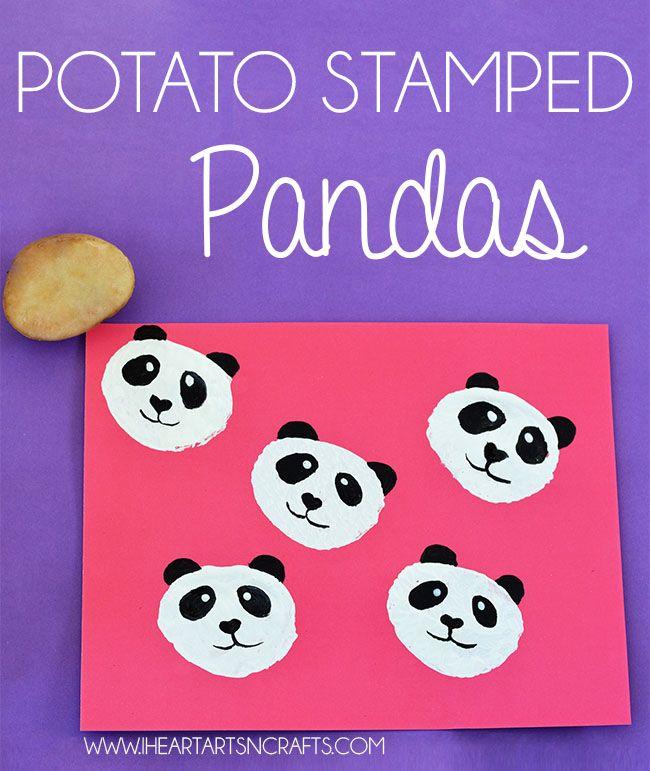 Potato Stamped Pandas