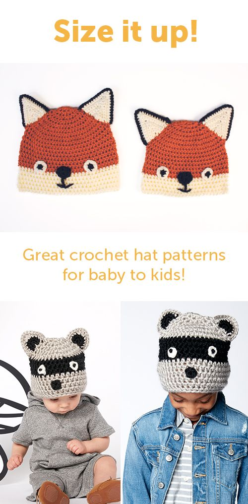 Now on the blog - Crochet hats from baby to kids! Free pattern from ...