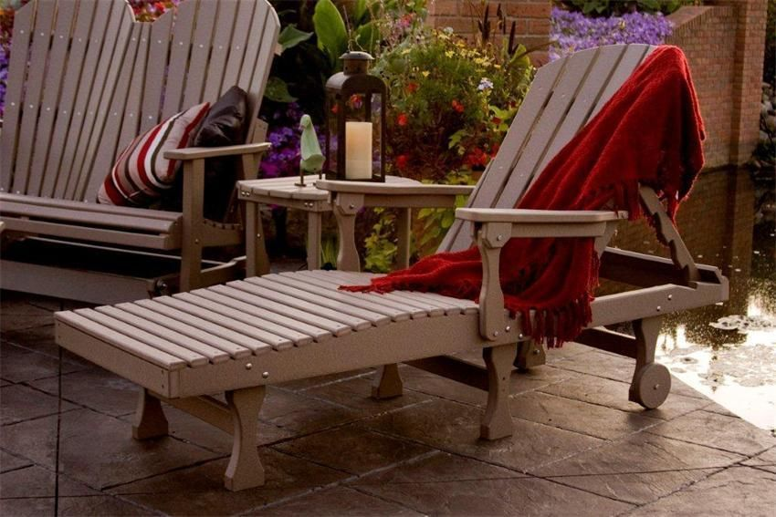 Berlin Gardens Comfo Back Chaise Lounge From DutchCrafters Amish