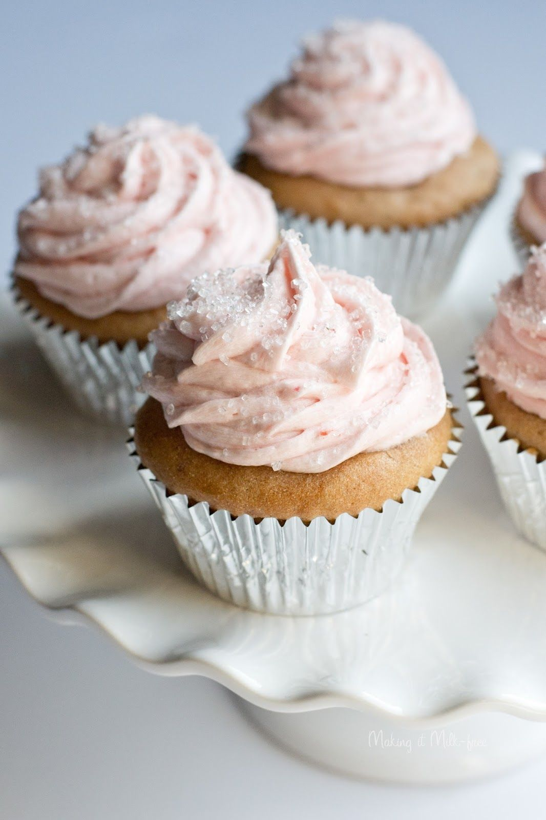 Strawberry Cupcakes dairy gluten free Strawberry buttercream