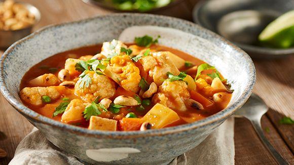 Overheerlijke vegetarische curry