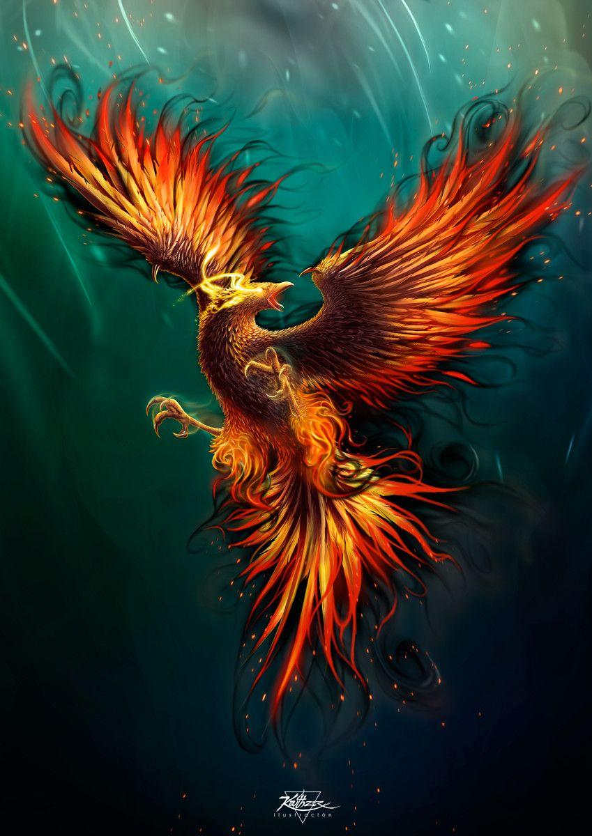 легко птица феникс восставшая из пепла картинки красивые все рождественские
