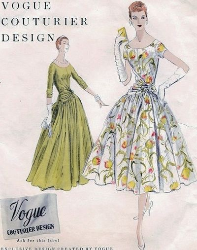 Vintage Girl In The 21st Century Vintage Clothes Patterns Vintage Vogue Sewing Patterns Sewing Pattern Design