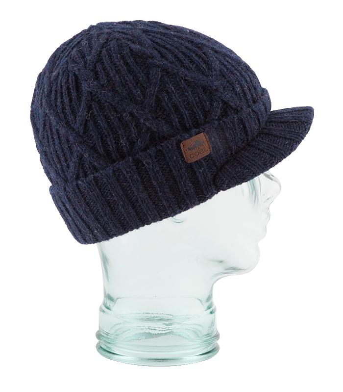 Coal Yukon Brim Heritage Knit Wool Beanie Hat   Gorros