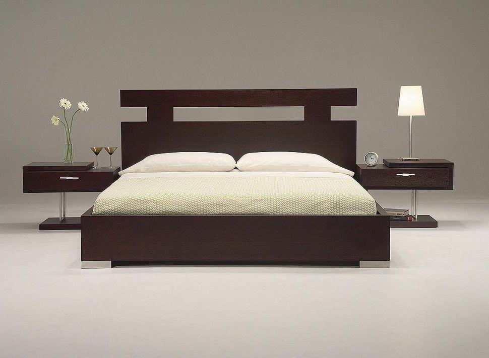 Uncategorized Wooden Bed Frame Headboard Nightstand Bedside Table Lamp Shade Modern Futuristic On Bedroom Bed Design Bed Design Modern Bedroom Furniture Design