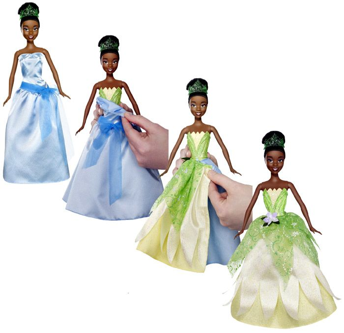 Disney Princess 2-In-1 Ballgown Surprise Tiana Doll NEW frog African ...