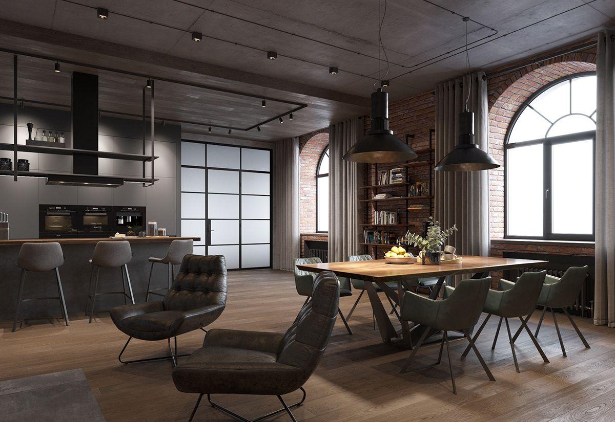 New Loft Design Project On Behance Domovy Dizajn Dizajn Domovy