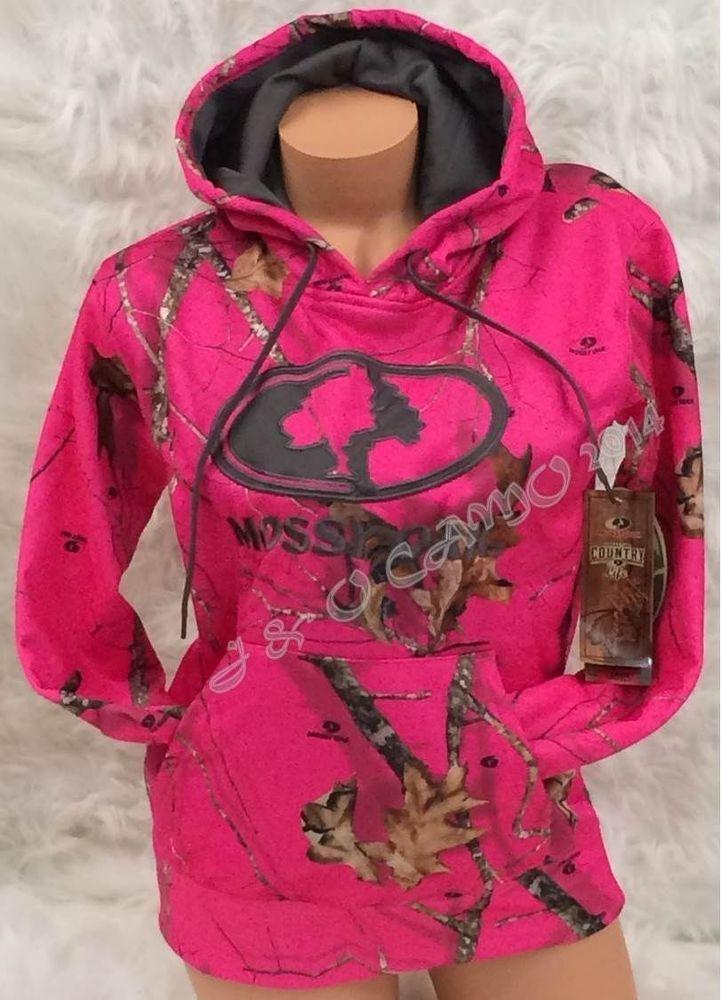 7f3cd5954 Women Mossy Oak HOT PINK Camo Warm Performance Pullover Hoodie S M L XL 2XL  #MossyOak #Hoodie