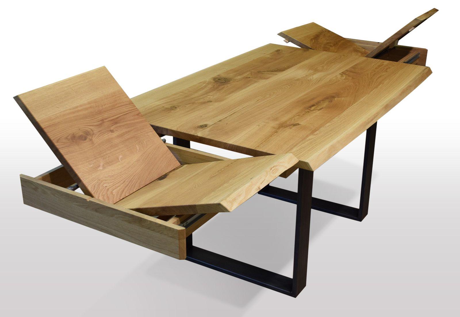 Baumkanten Tisch Ausziehbar Eiche Breite 80cm Lange Wahlbar Esstisch Holz Ausziehbar Esstisch Eiche Esstisch Ausziehbar