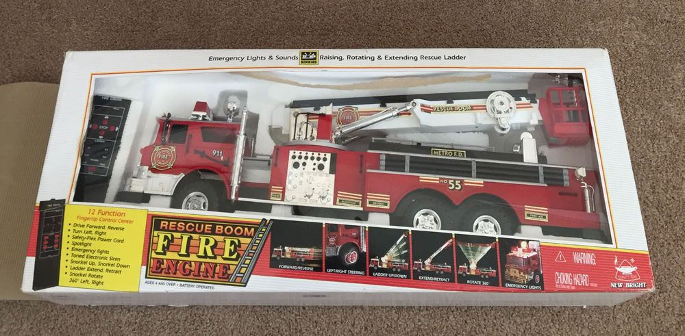 1996 New Bright F D Rescue Boom No 55 Fire Truck Tethered Controlled New Othe Fire Trucks Fire Rescue