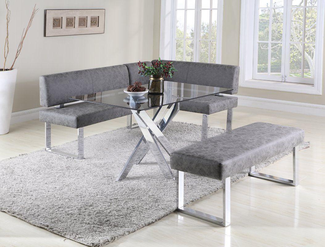 Admirable Cassian Faux Leather Corner Bench Kitchen Black Dining Interior Design Ideas Gentotryabchikinfo