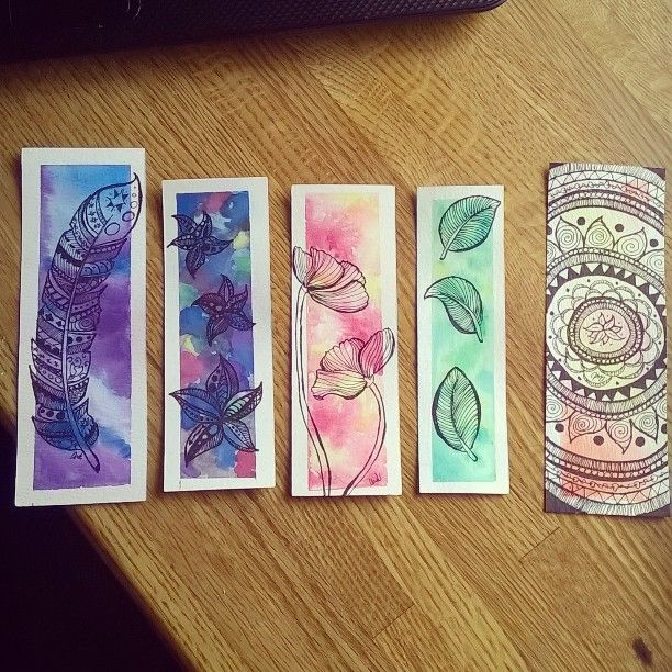 Watercolor Bookmarks Google Search Zakladki Svoimi Rukami