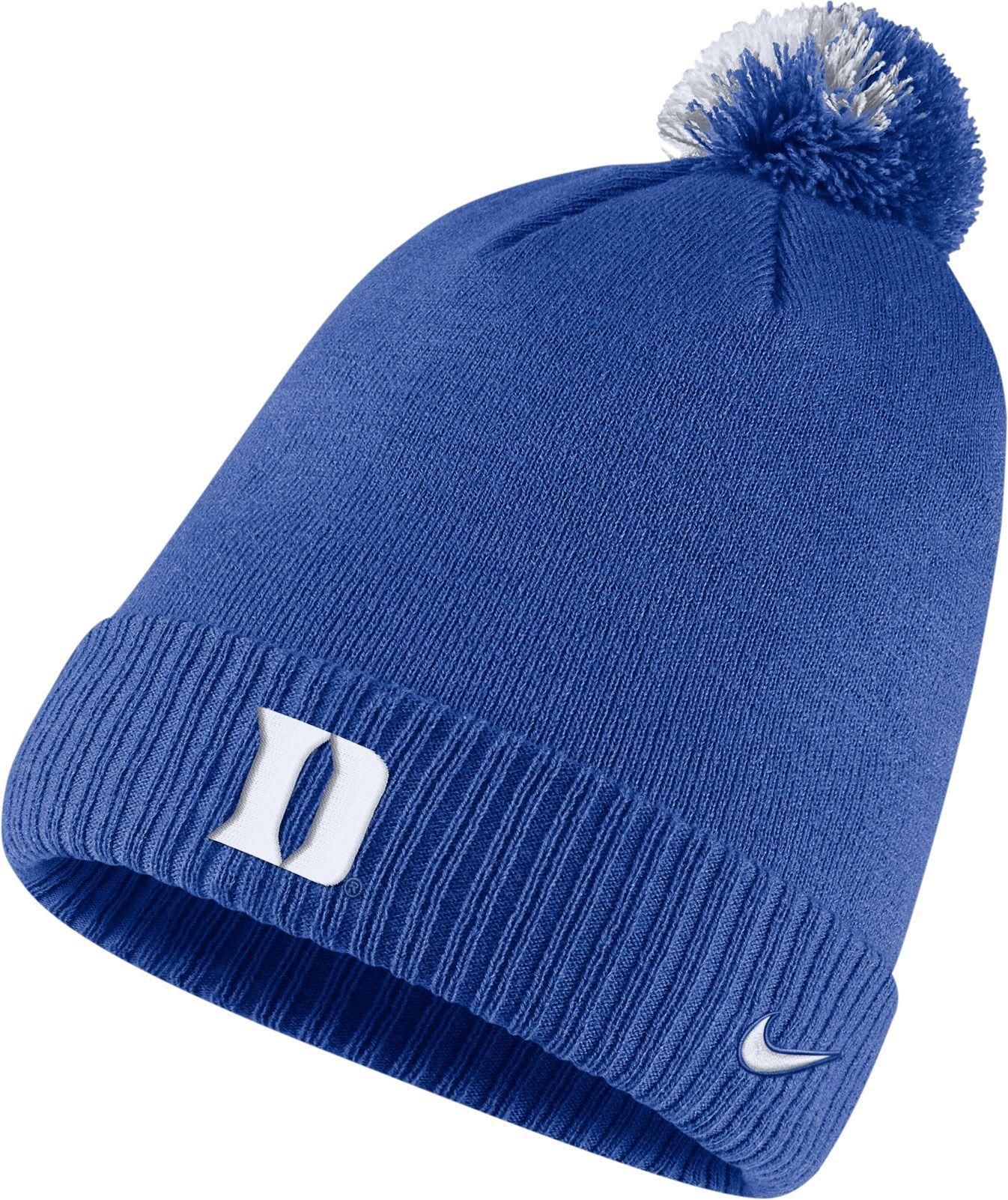 b627111b987 Nike Men s Duke Blue Devils Duke Blue Football Sideline Pom Beanie ...