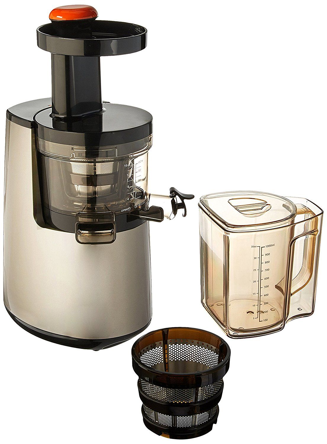 Amazon.com: Hurom Elite Slow Juicer Model HH-SBB11 Noble Silver with Cookbook: Kitchen & Dining