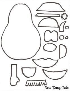mrs potato head coloring pages | Felt templates, Quiet ...