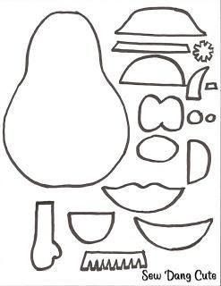 Mrs Potato Head Coloring Pages Felt Templates Quiet Book