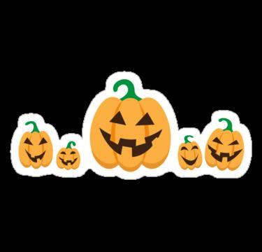 Halloween Jack o lantern pumpkin stickers