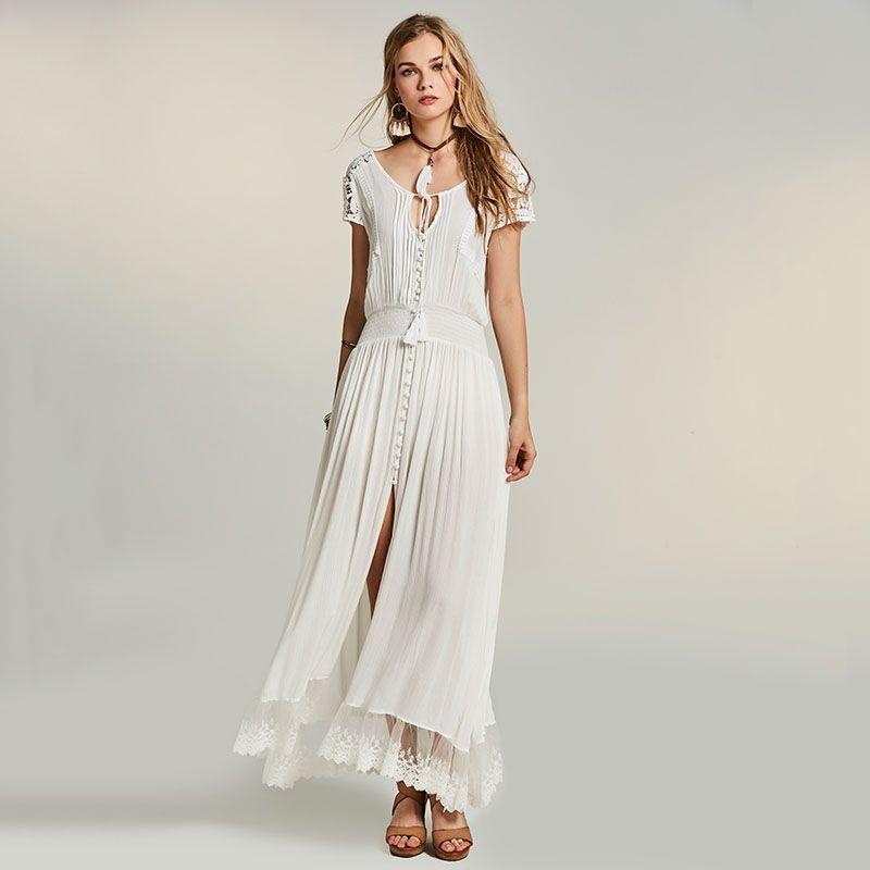 8d542b428e4 ... Maxi Dress Summer Hollow Out Lace Dress Straps Tassel Bohemia A Line  Elegant Maxi Dresses New Price  16.90   FREE Shipping  bohogipsy  Boho   Bohochic