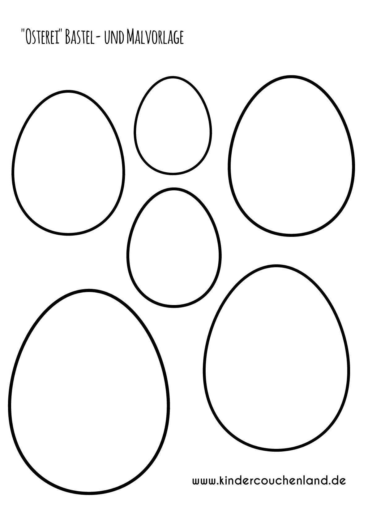 Ostereier Basteln Mit Kindern Mit Vorlage