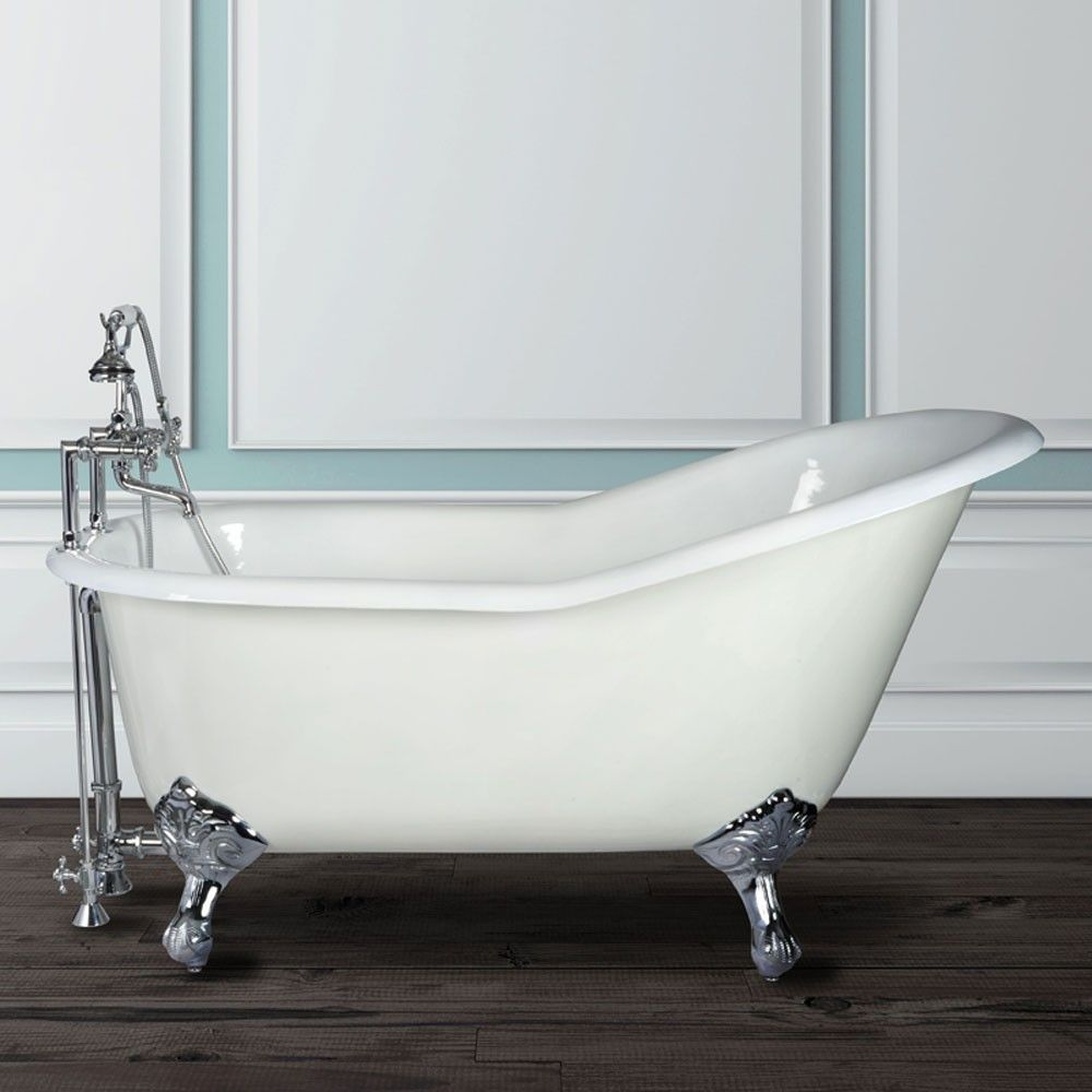 Charlotte cast iron slipper clawfoot tub - rim faucet drillings ...