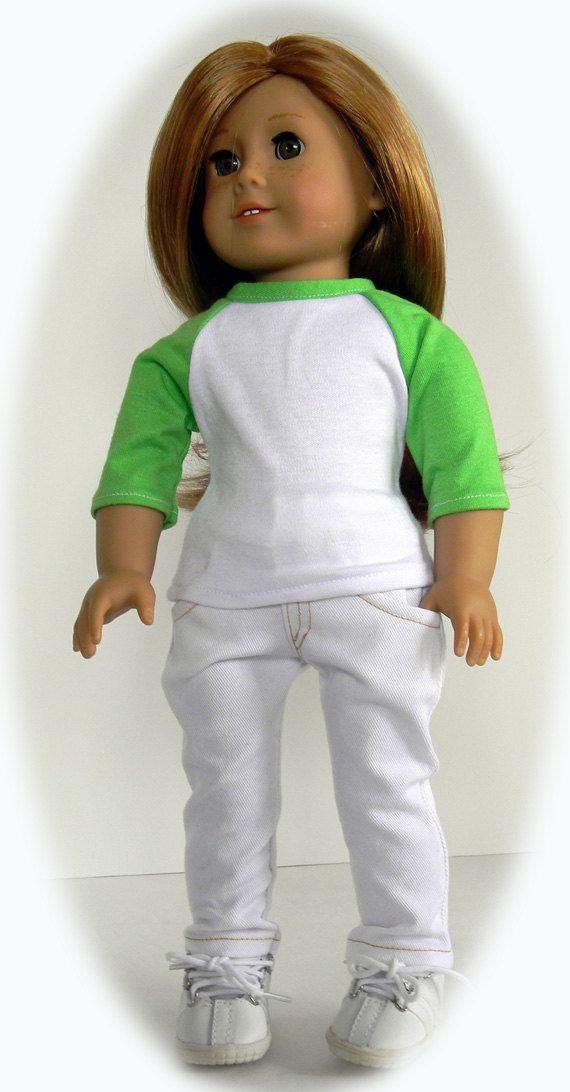 American Girl 18 inch Doll--Trendy Baseball Tee   American girl ...