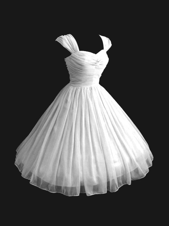 Custom Vintage 1950\'s 50s Style Ruched Chiffon Party Prom Strapless ...