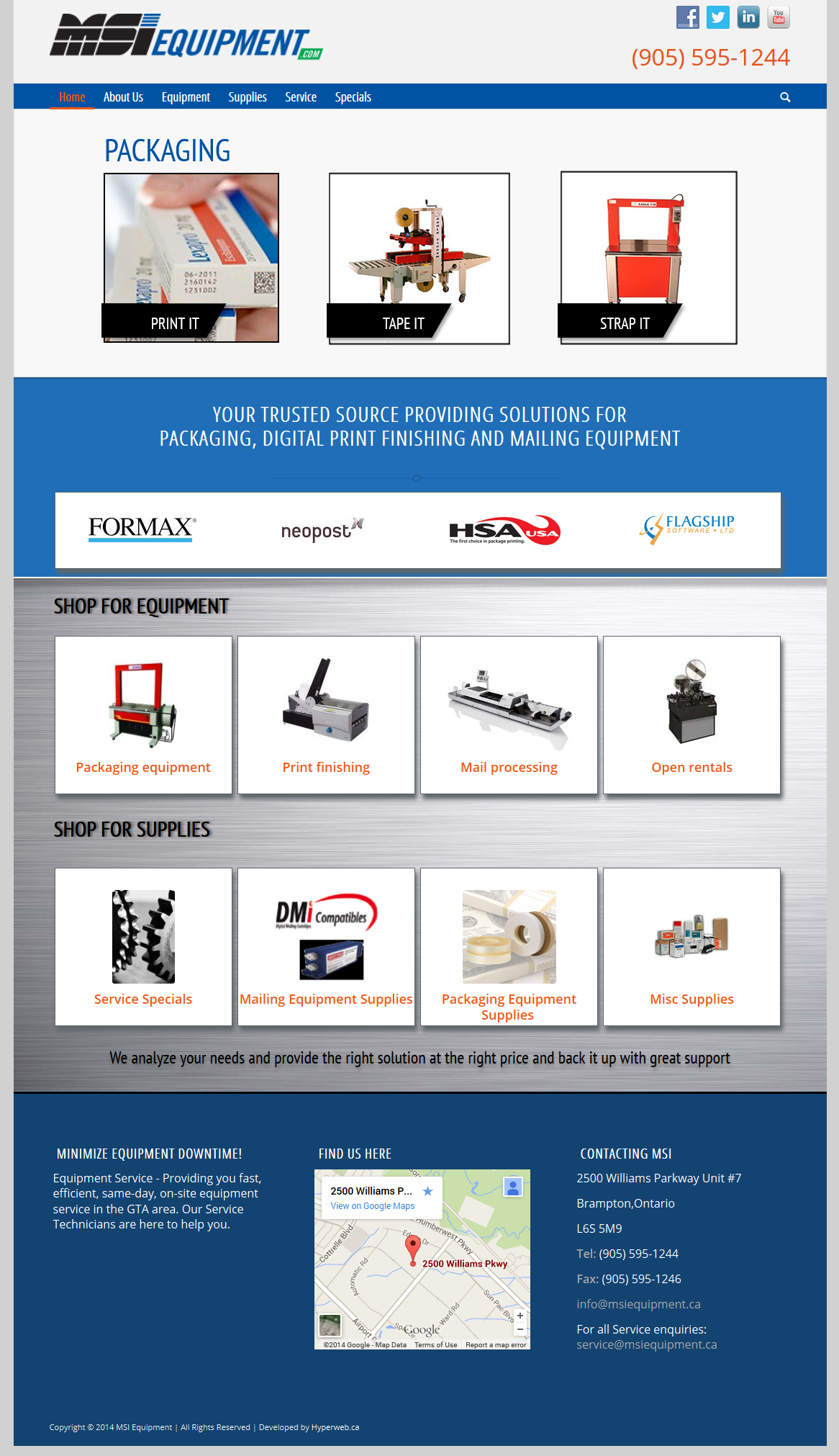 MSI Equipment - Packaging and Mailing Equipment