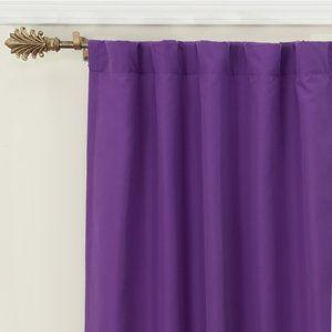 Your Zone Microfiber Window Panel Walmart Com Purple Curtains Window Panels Rod Pocket Curtain Panels