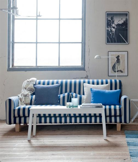 Amazing Bemz Cover For Nikkala Sofa In Stockholm Stripe Deep Navy Blue/Sand Beige  From Bemz