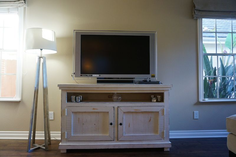 Home Tour January 2015 Living Room TV Console At GraciousDelights.com