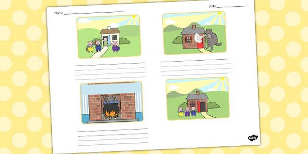 The Three Little Pigs Storyboard Template - storyboard, pigs 3 - free storyboard templates