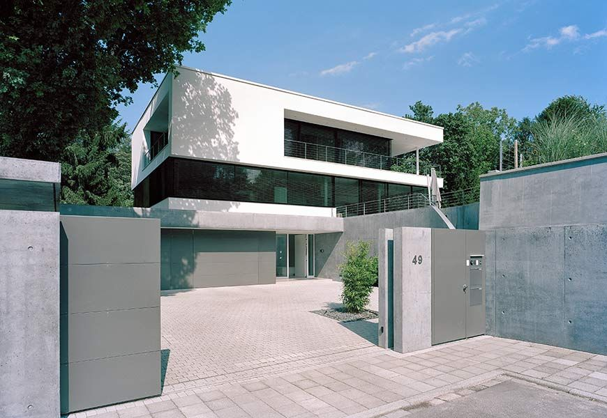 New construction of a family house with garage and pool karlsruhe houses architecture - Pool karlsruhe ...