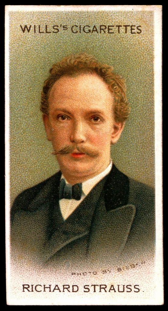 "#46 Richard Strauss"" - Wills's Cigarettes, ""Musical Celebrities A Series"" 1912. Flickr Photo Sharing."
