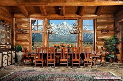 I Want This Dining Room... Log Cabin ...