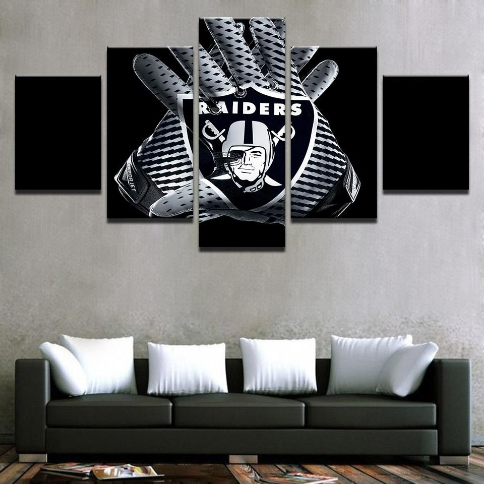 Nfl panel canvas print wall art also oakland raiders football home decor rh pinterest