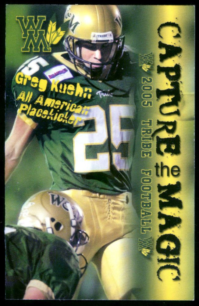 2005 WILLIAM AND MARY TRIBE FOOTBALL POCKET SCHEDULE FREE