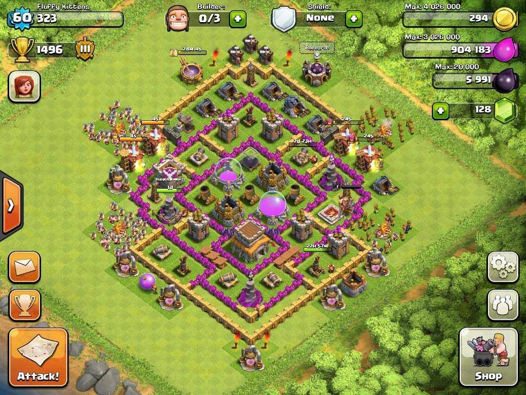 Clash of Clans Town Hall Level 8 Defensive | Clash of
