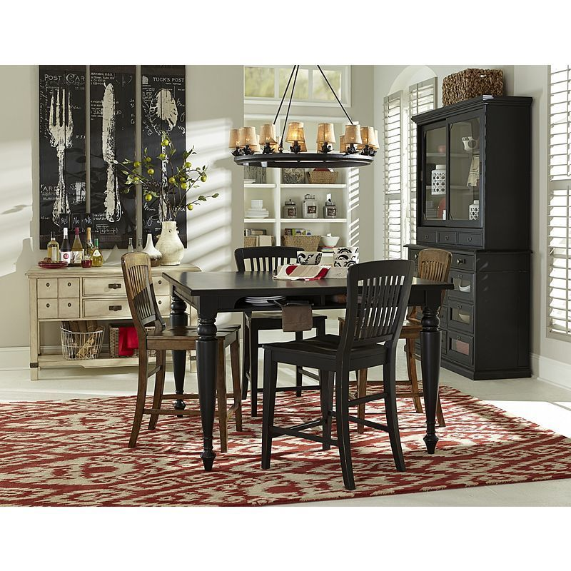 New Vintage Counter Height Gathering Table Set by Broyhill - High Point-Discount  Furniture