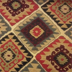 Choctaw Red Woven Southwest Upholstery Fabric Upholstery Fabric