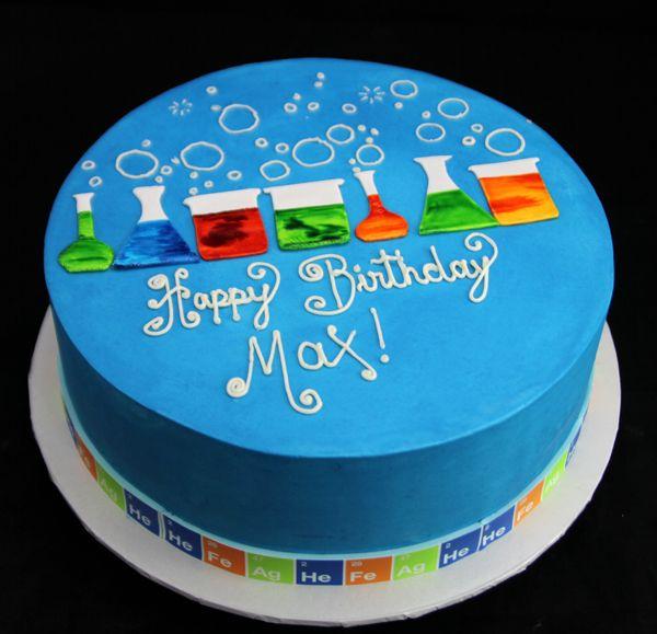 Brilliant Science Cake 1 600579 Science Cake Science Party Food Birthday Cards Printable Inklcafe Filternl