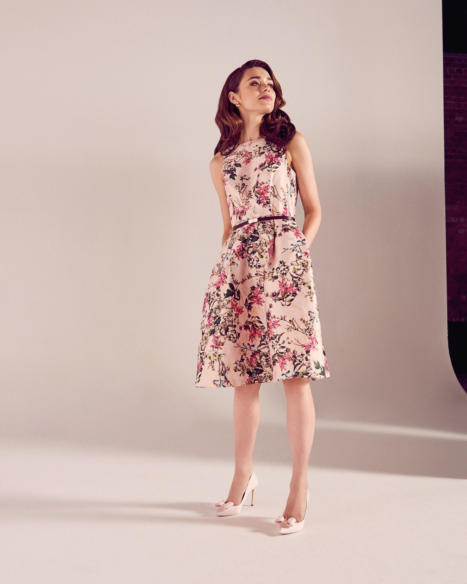 Blossom Jacquard full dress Mid Pink SS17 Tie The Knot