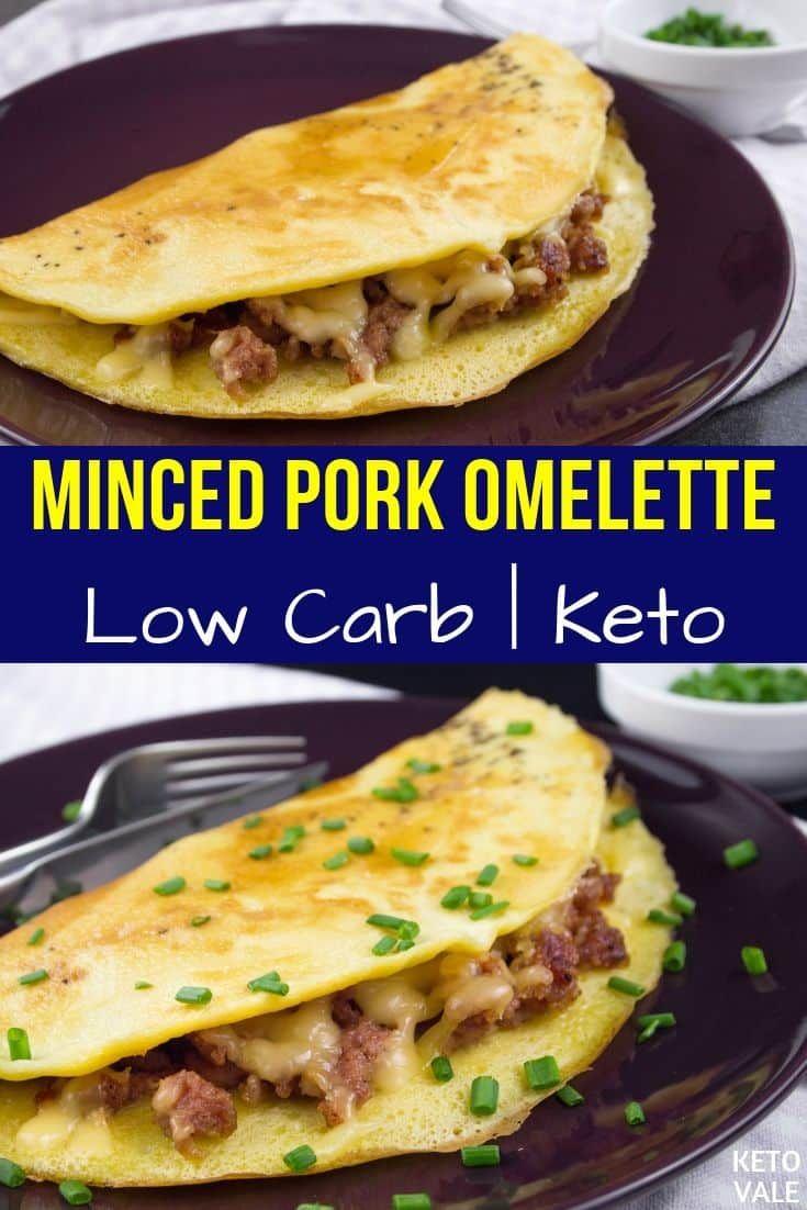 Minced Pork Omelette | Recipe | Low carb breakfast recipes ...