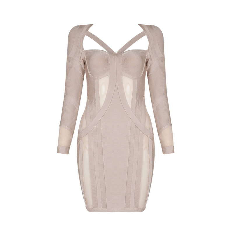 a2f5df81439 CRAWA Long Sleeve Bandage Dress – L eau de Lychee