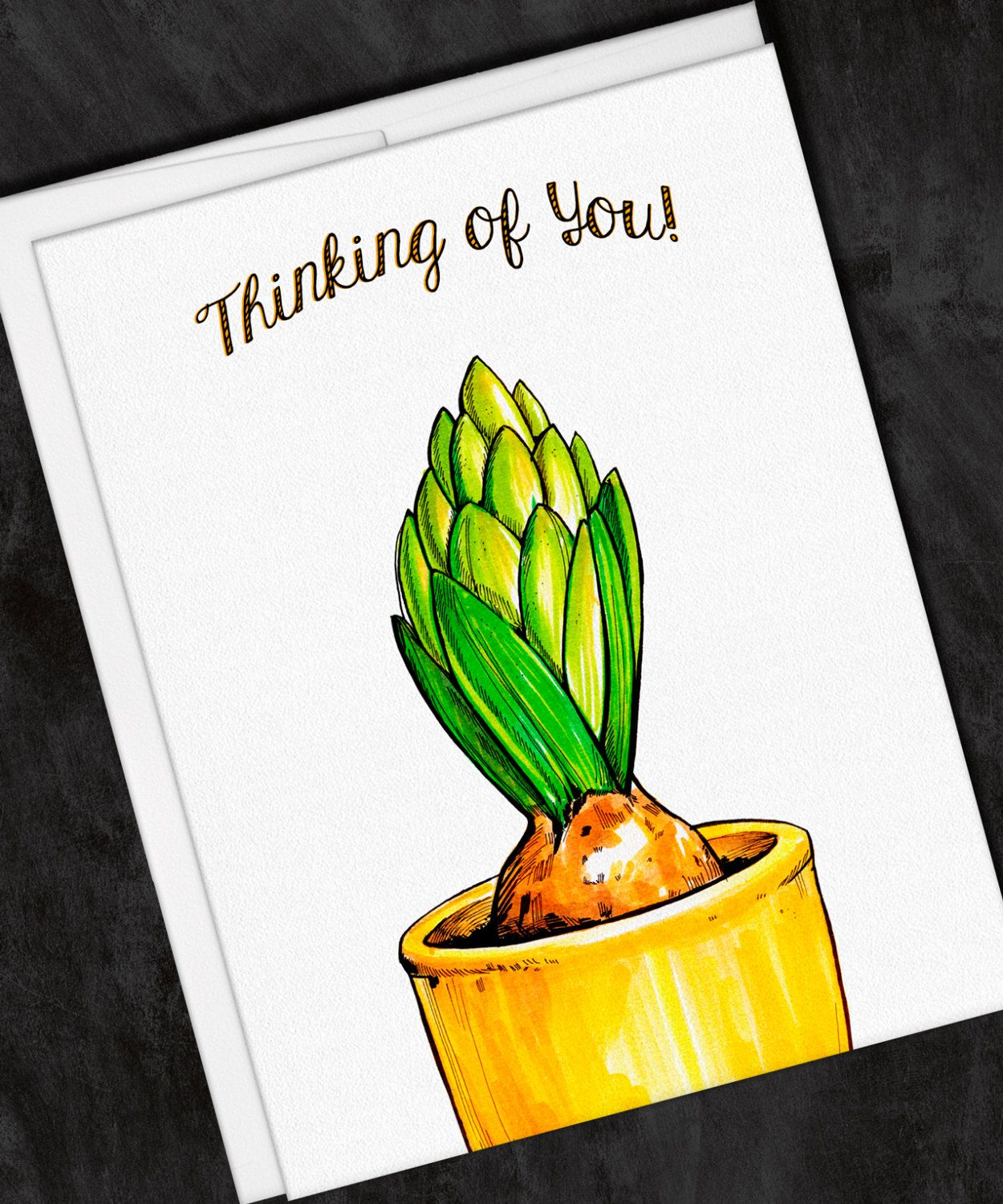 Spring bulb thinking of you greeting card note card set set of spring bulb thinking of you greeting card note card set set of 6 by kristyandbryce Choice Image