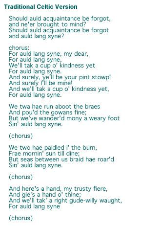 picture relating to Auld Lang Syne Lyrics Printable known as Auld Lang Syne - Robert Burns \u003c3 ~Xmas - Family vacation