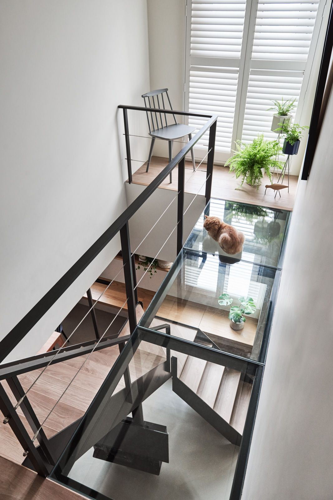 Urban loft bedroom  A Stylish Apartment With Cozy Spots for Cats  Stairs  Pinterest