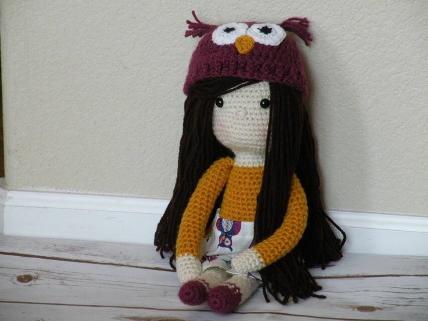 A personal favorite from my Etsy shop https://www.etsy.com/listing/229229280/crochet-doll-with-owl-outfit