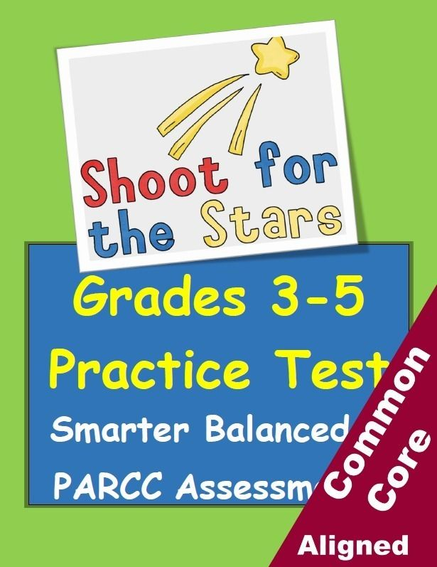 3rd 4th 5th And 6th Grade Parcc Smarter Balanced Practice Test Reading Writing And Math All In One Packet Answer Keys Included