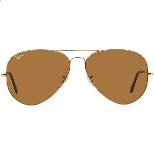 4202c264779 Ray-Ban Aviator Gold Sunglasses - rb3025 (195 CAD) ❤ liked on Polyvore